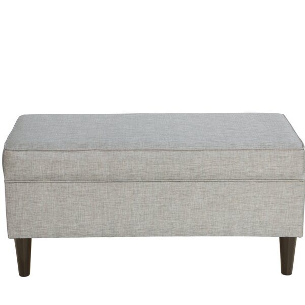 Petrillo Linen Upholstered Storage Bench by Red Barrel Studio