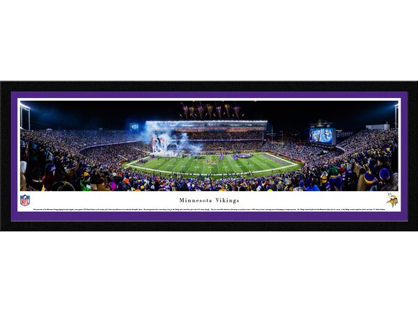 NFL Minnesota Vikings - Tcf Bank Stadium by Christopher Gjevre Framed Photographic Print by Blakeway Worldwide Panoramas, Inc