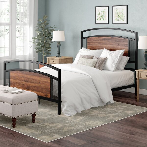 Pilcher Mesh Queen Standard Bed by Wrought Studio
