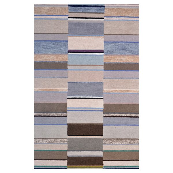 Wool Hand-Tufted Beige/Silver Area Rug by Eastern Weavers