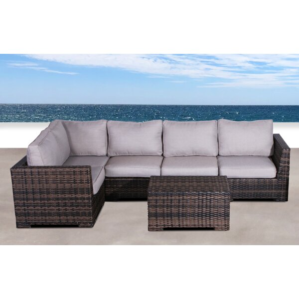 Letona Resort 2 Piece Rattan Sectional Seating Group with Cushions by Sol 72 Outdoor