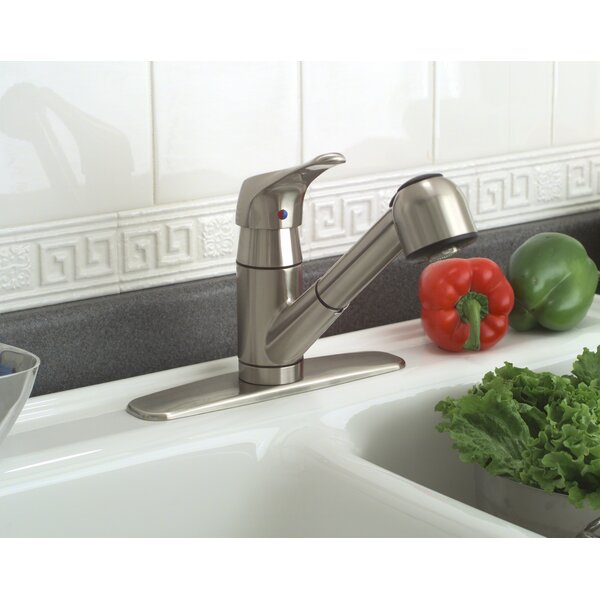 Sonoma Single Handle Deck Mounted Kitchen Faucet with Optional Deck Plate by Premier Faucet