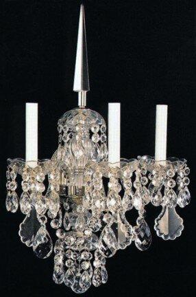 Baumann 3-Light Candle Wall Light Astoria Grand