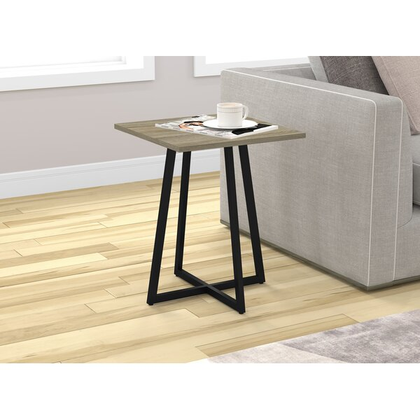 Karson Metal End Table By Union Rustic