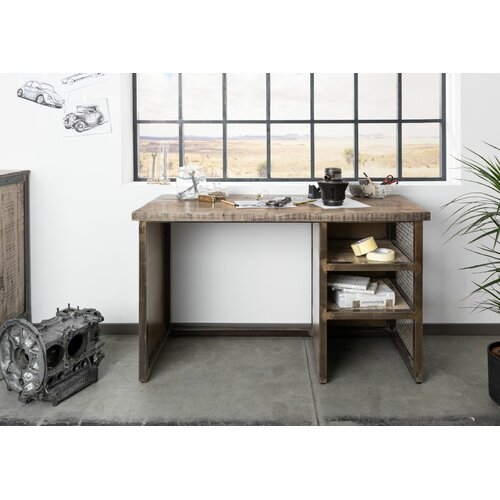 Schreibtisch Heavy Industry Massivmoebel24 Farbe: Braun | Büro > Bürotische > Schreibtische | Massivmoebel24