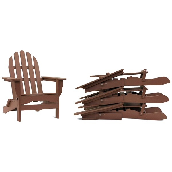 Paterson Plastic Folding Adirondack Chair (Set of 4) by August Grove