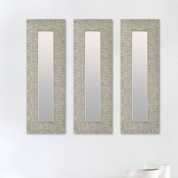 3 Piece Narrow Designer Accent Mirror Set (Set of 3) by Mirrorize.ca