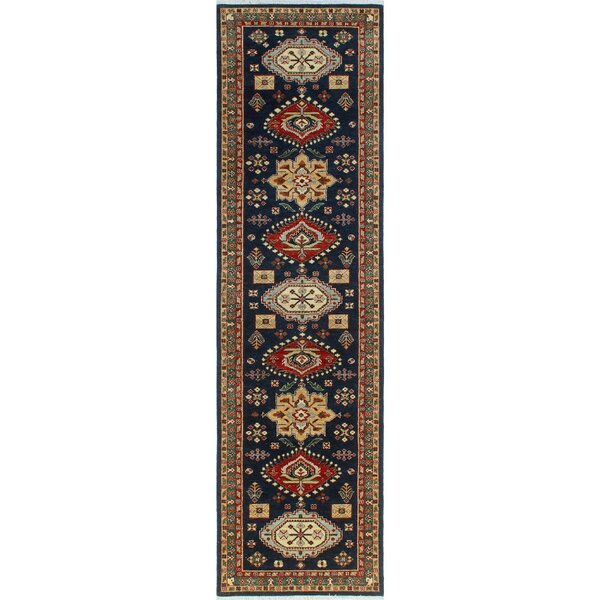 One-of-a-Kind Jacque Hand-Knotted Wool Blue Area Rug by Isabelline
