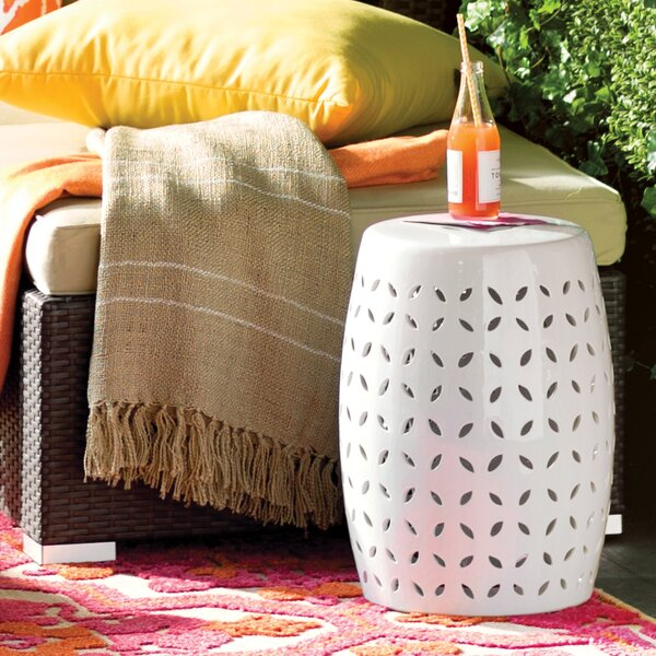 Bartow Petal Accent Stool by Mercury Row