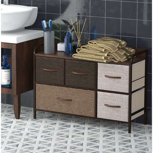 Review Alward Tower 5 Drawer Combo Dresser