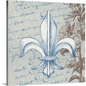 'French Fleur de Lis II' Graphic Art on Wrapped Canvas by Great Big Canvas