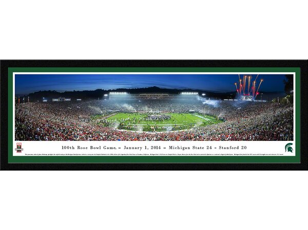 NCAA Rose Bowl 2014 by James Blakeway Framed Photographic Print by Blakeway Worldwide Panoramas, Inc