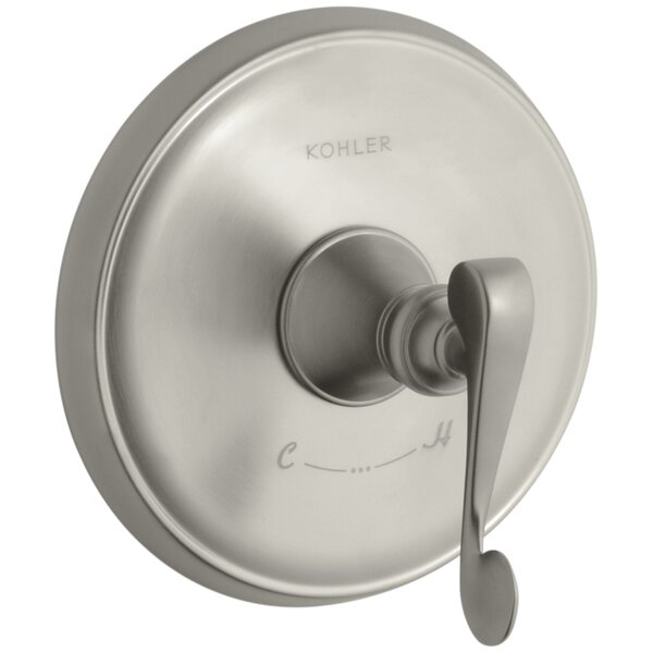 Revival Valve Trim with Scroll Lever Handle for Thermostatic Valve, Requires Valve by Kohler