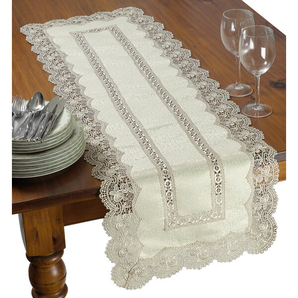 Mathew Decorative Lace Cutwork Table Runner by Astoria Grand