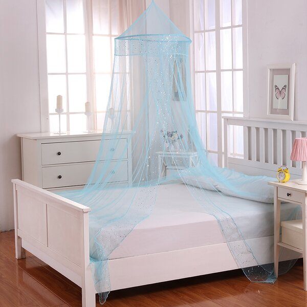 Jaymes Kids Collapsible Hoop Sheer Bed Canopy by H