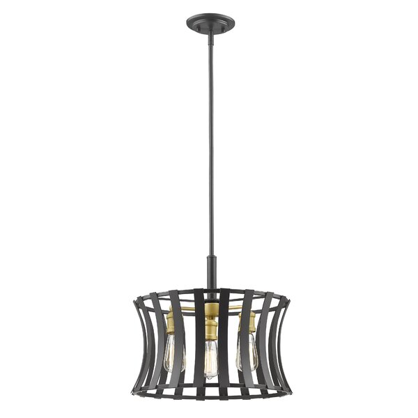 Gerling 3 - Light Unique / Statement Geometric Chandelier By Ivy Bronx