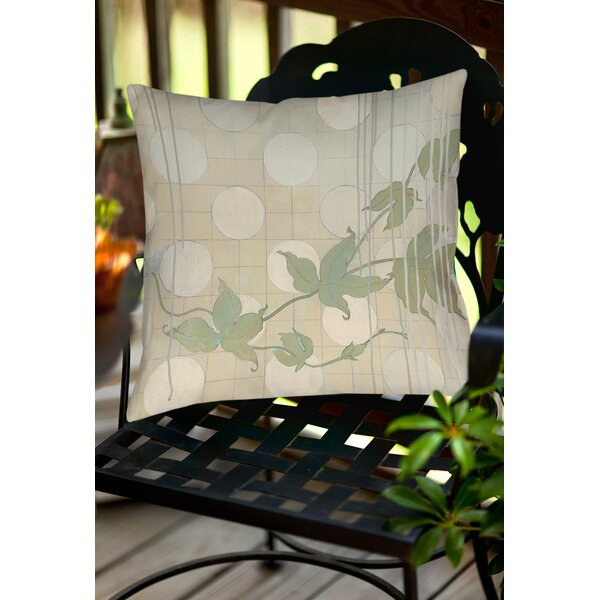 Summer Vine 2 Indoor/Outdoor Throw Pillow by Manual Woodworkers & Weavers