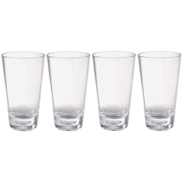 Jazz 18 oz. Acrylic Highball Glass (Set of 4) by Chenco Inc.