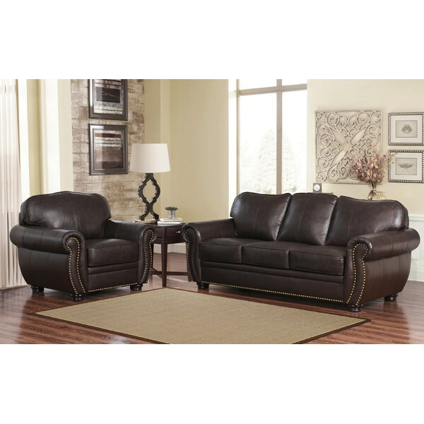 Osteen 2 Piece Leather Living Room Set by Astoria Grand