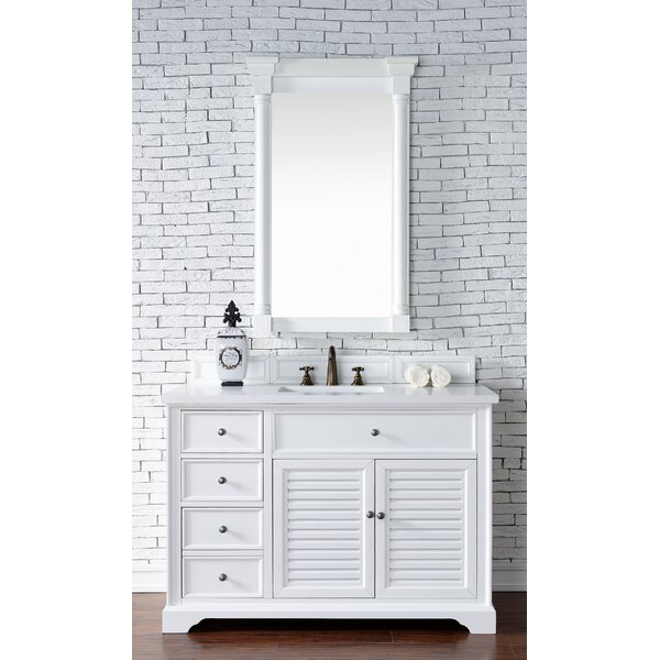Osmond 48 Single Undermount Sink Cottage White Bathroom Vanity Set by Greyleigh