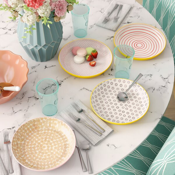 Blanchette Ceramic 4 Piece 9.8 Dinner Plate Set by Mint Pantry