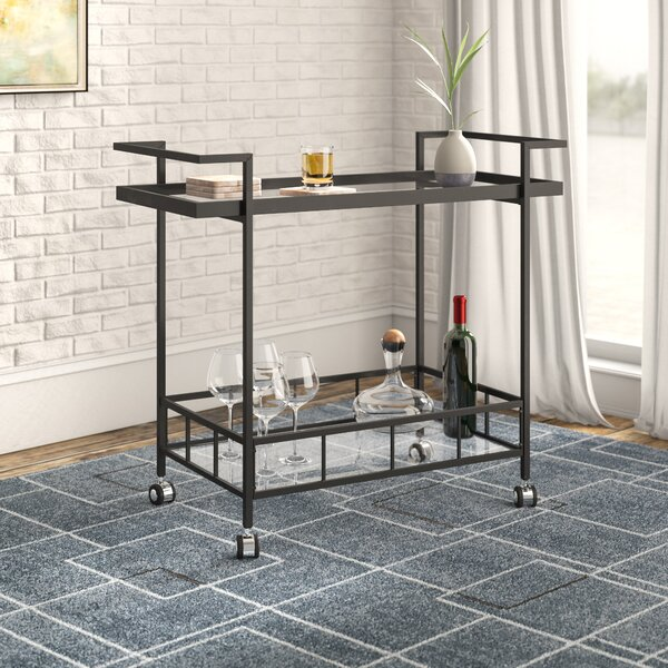 Linde Indoor Bar Cart by Mercury Row