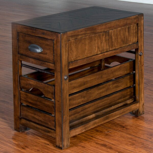 Wilfried Rectangular End Table with Storage by Gracie Oaks