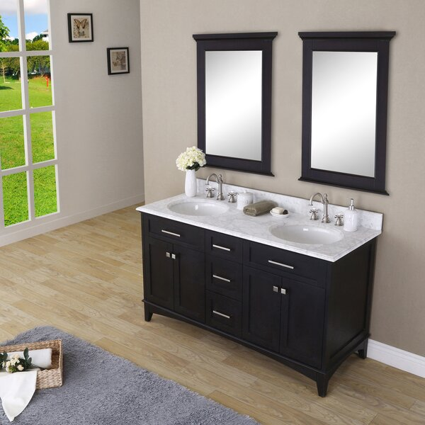 Paton 60 Double Bathroom Vanity Set with Mirror by dCOR design