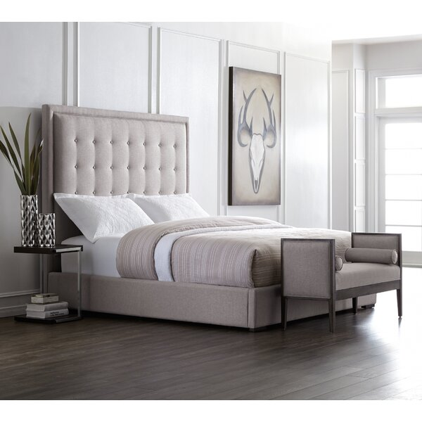 5West Upholstered Platform Bed by Sunpan Modern