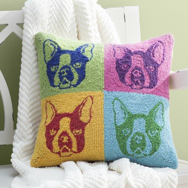 Alistair French Bulldog Hook Wool Throw Pillow by Archie & Oscar