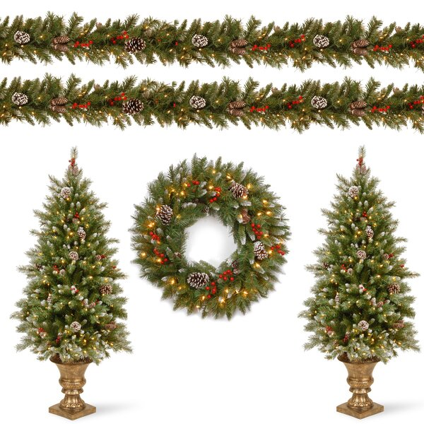Frosted Berry Decorating Garland and Swag Kit Assortment by Darby Home Co
