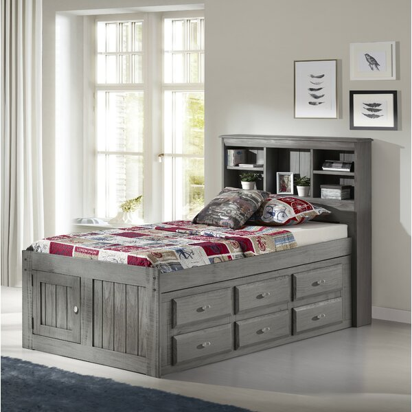 Giulia Twin Mates Bed with Drawers and Bookcase by Birch Lane™ Heritage