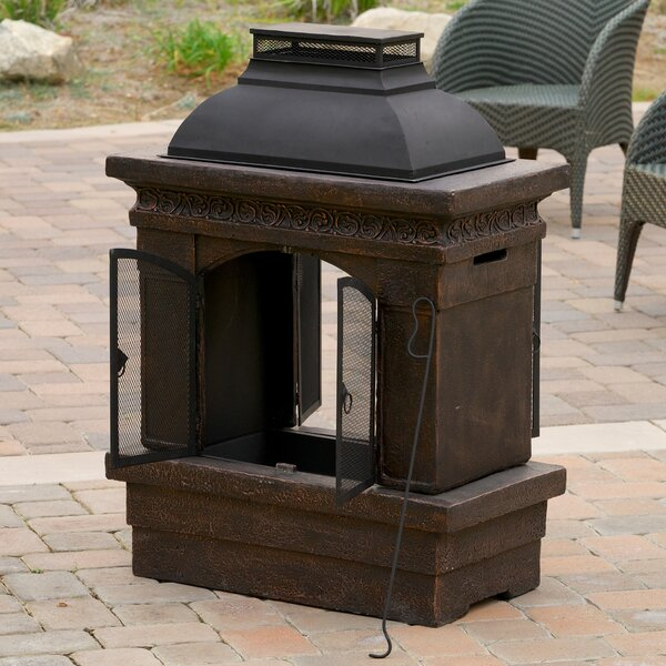 Barbados Cast iron Wood Burning Outdoor Fireplace by Home Loft Concepts