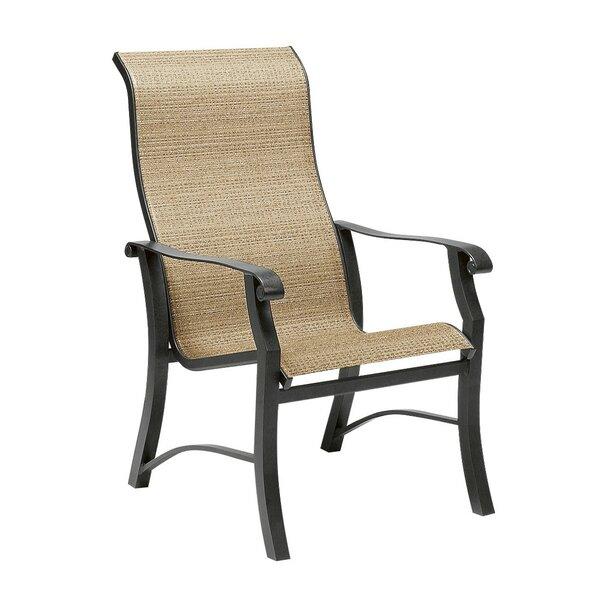 Cortland Sling High-Back Patio Dining Chair by Woodard
