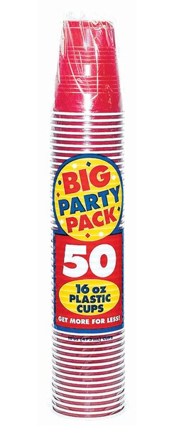 Everyday Big Party Plastic Disposable Cup (Set of 100) by Amscan