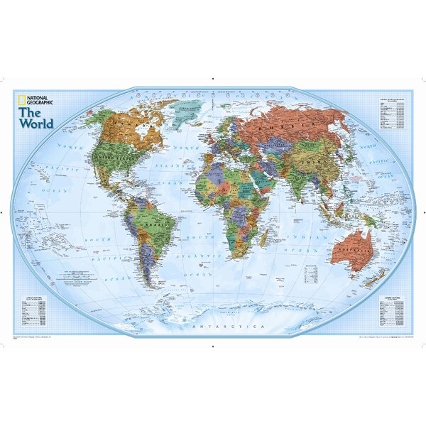 World Explorer Wall Map by National Geographic Maps