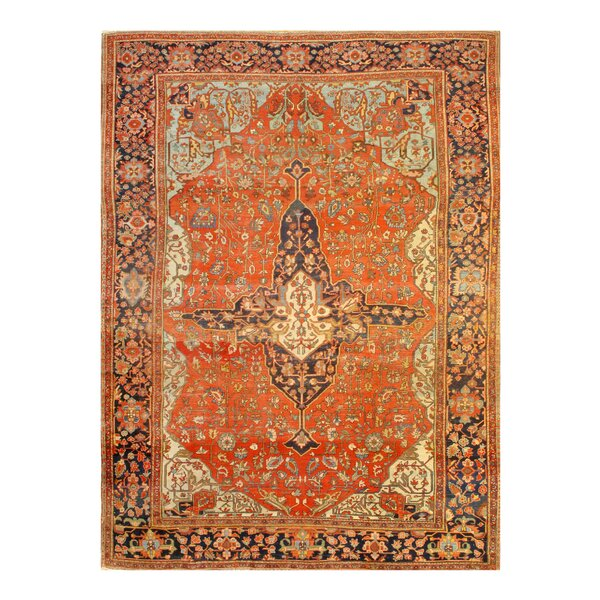 One-of-a-Kind Hamida Hand-Knotted Rust 8'6 x 11'6 Area Rug