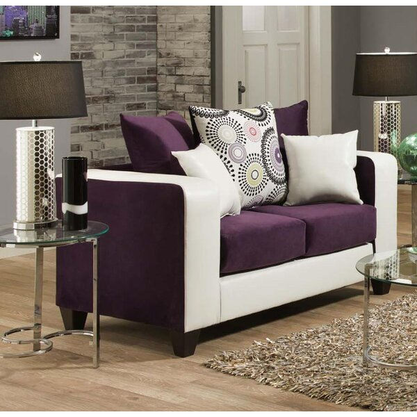 Modern Brand Gorney Loveseat by Ebern Designs by Ebern Designs