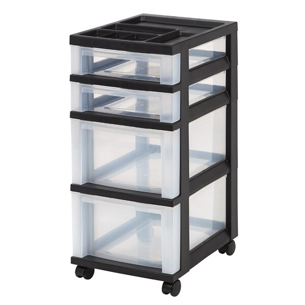 Storage Cart 26.44 H x 12.05 W x 14.25 D Drawer Organizer by IRIS USA, Inc.