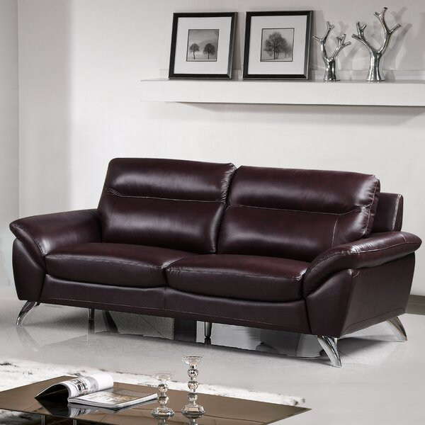 Richman Leather Sofa By Orren Ellis Spacial Price