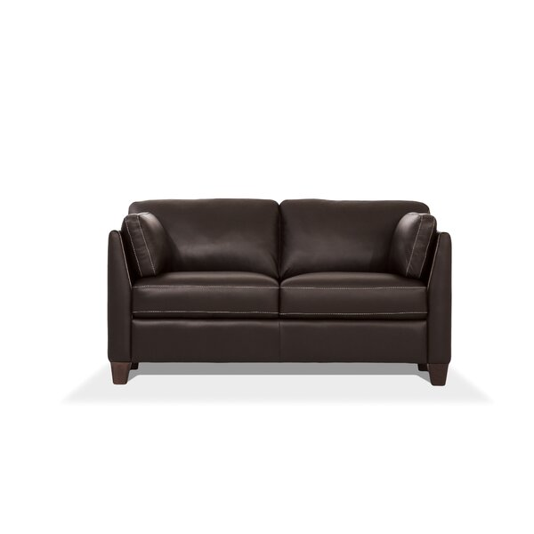 Jemma Leather Loveseat by Winston Porter Winston Porter