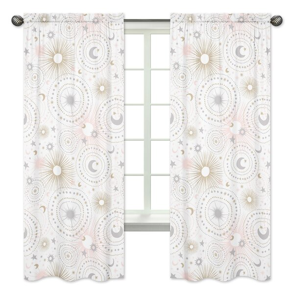 Celestial Rod Pocket Window Curtain Panels (Set of 2) by Sweet Jojo Designs