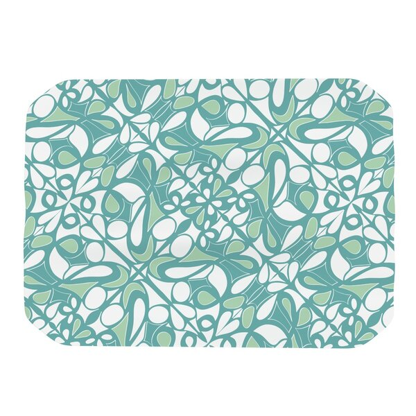 Swirling Tiles Teal Placemat by KESS InHouse