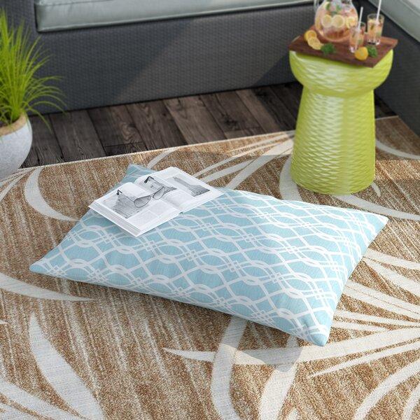 Brookwood Wavy Indoor/Outdoor Floor Pillow by Rosecliff Heights