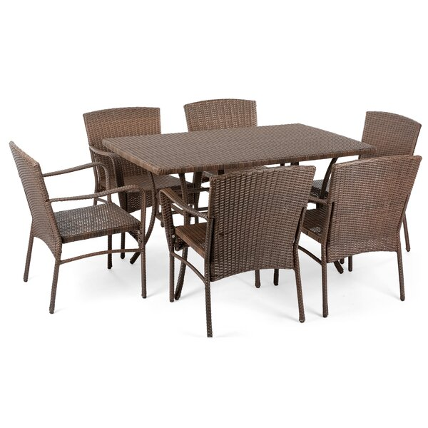 Bleckley Garden Patio 7 Piece Dining Set by August Grove
