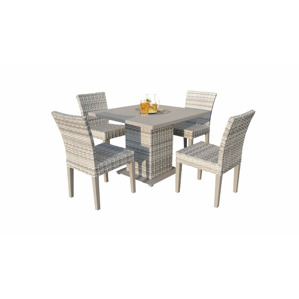 Falmouth 5 Piece Outdoor Dining Set by Sol 72 Outdoor