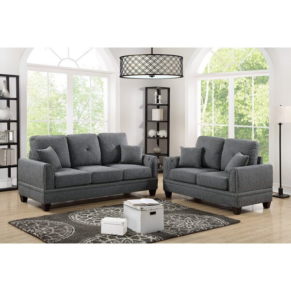 Marrone 2 Piece Living Room Set by Latitude Run