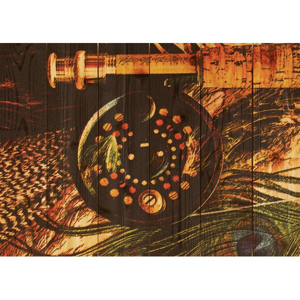 Fly Reel Painting Print by Gizaun Art