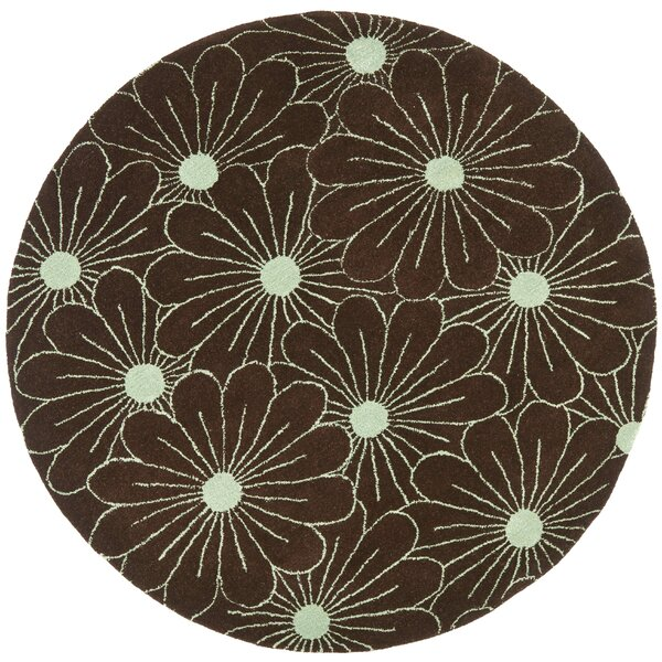 Lockwood Light Brown / Teal Contemporary Rug by Ebern Designs