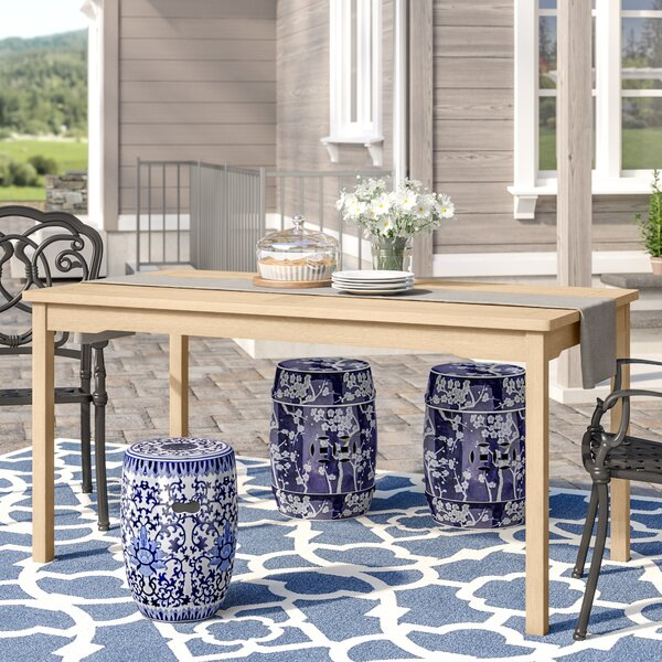 Baskerville Outdoor Rectangular Dining Table by Darby Home Co